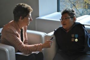 ATOM Project Ambassador Karipbek Kuyukovbeing interviewed by German press